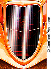 Hot Rod Grille - Grille on a classic American car