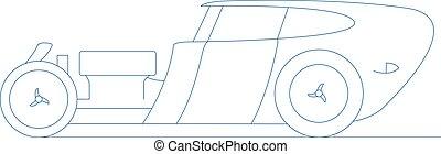 hot rod retro car vector illustration