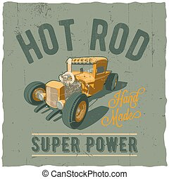 Hot Rod Super Power Poster