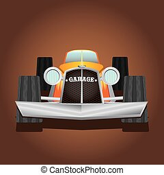 hot rod vector image. sport old car