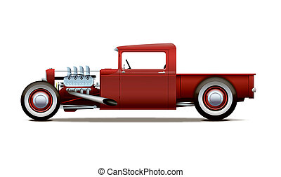 hot-rod, vrachtwagen