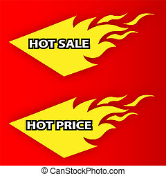 Hot Sale and Hot Price labels