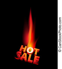 Hot sale anouncement with big flame