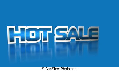 Hot sale, best quality and fast delivery promotional advertisement text for big seasonal or holiday events sales and discounts HD footage.