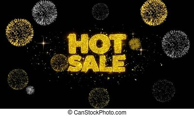 Hot Sale Golden Text Blinking Particles with Golden...