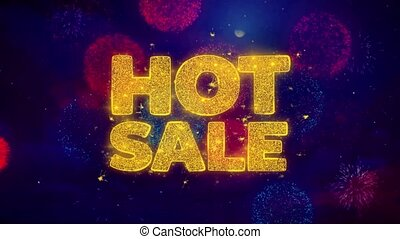 Hot Sale Greeting Text Sparkle Particles on Colored...