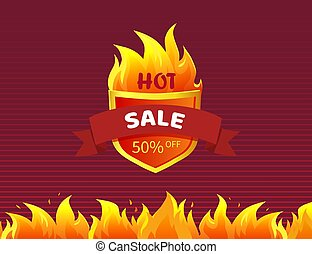Hot Sale Heraldic Badge Promo Offer 50 Percent Off