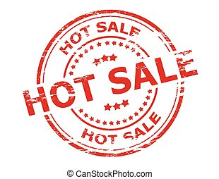 Hot sale - Stamp with text hot sale inside, vector...