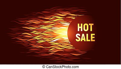 Hot sale offer on fire background