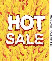 hot sale on a background fire.