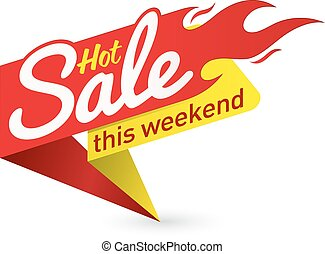 Hot sale price offer deal vector labels templates stickers designs with flame.