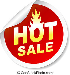 Hot sale sticker badge with flame