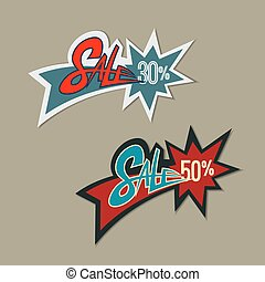 Hot Sale Stickers. Labels. Vector