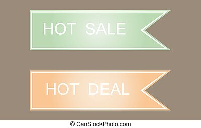 Hot sale symbols. Labels, stickers