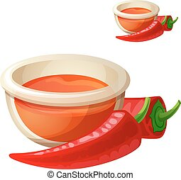 Hot sauce isolated on white background. Detailed Vector Icon