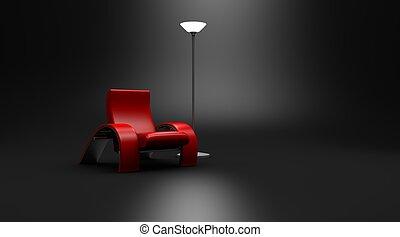 Hot Seat Modern Chair Dark Room