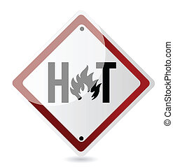 Hot sign illustration design