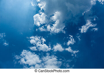 hot sky with clouds