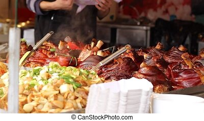 Hot Smoked Pork Knuckle - Tasty hot pieces of pork knuckle...