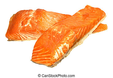Hot Smoked Salmon Fillets - Hot smoked salmon fillets...