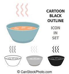 Hot soup icon cartoon. Single sick icon from the big ill, disease cartoon.
