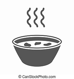 Hot soup icon cartoon. Single sick icon from the big ill, disease simple.