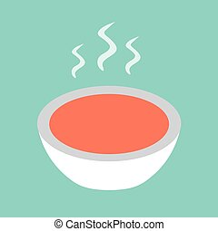 hot soup icon- vector illustration