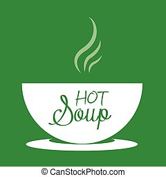 Hot soup in a bowl