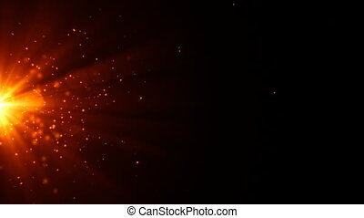 Hot sparkling particles