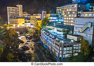 Jozankei, Hokkaido, Japan - Hot Spring resort town of...