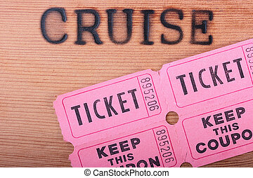 Hot stamping Cruise - The wooden panel with a hot stamping...