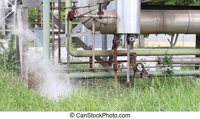 hot steam drainage. Steam valve - Smoke and hot steam...