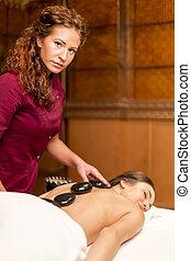 Hot stone massage therapy
