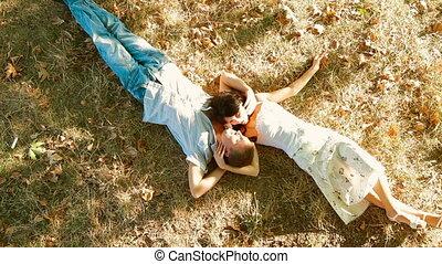 Hot summer - couple lying