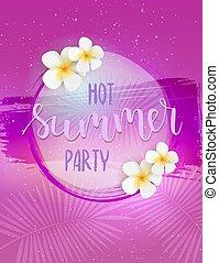 Hot summer party horizontal poster