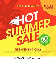 Hot Summer Sale banner design