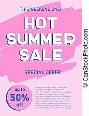 Hot summer sale banner template