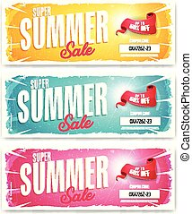 Hot Summer Sale Banner With Coupon Code