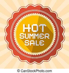 Hot Summer Sale Retro Vector Illustration