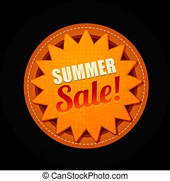 Hot summer sale sun sticker symbol sign