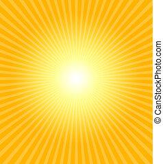 Hot summer sun - Really hot summer sun - illustration