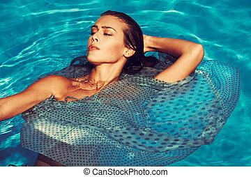 hot summer woman