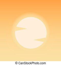 Hot sun. Desert blazing sun. Summer