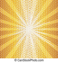 Hot sun halftone illustration