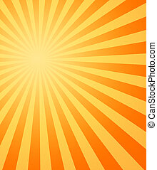 large yellow and orange image of the hot summer sun beating down