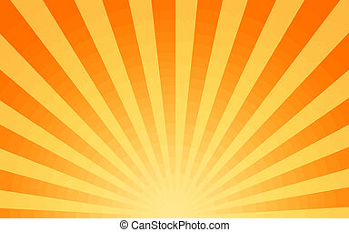 hot sun - large yellow and orange image of the hot summer ...