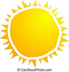 hot sun symbol design