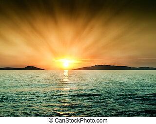 Hot sunset