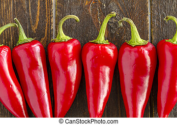 Hot Sweet and Chili Pepper Varieties - Close up of fresno ...