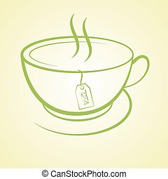 hot tea cup beverage drink icon vector illustration background